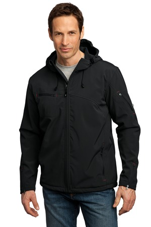 Port Authority® J706 Textured Hooded Soft Shell Jacket