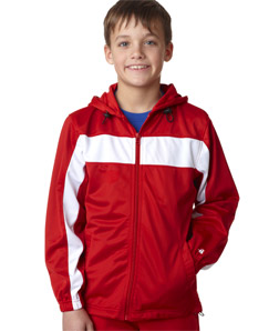 Badger 2705-Youth Brushed Tricot Hooded Jacket
