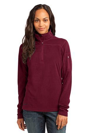 Eddie Bauer® EB221 Ladies 1/4-Zip Grid Fleece Pullover