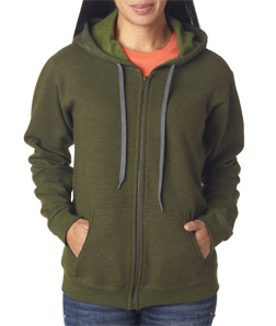 Gildan 18700FL - Missy-Fit Heavy Blend Vintage Full-Zip Hooded Sweatshirt