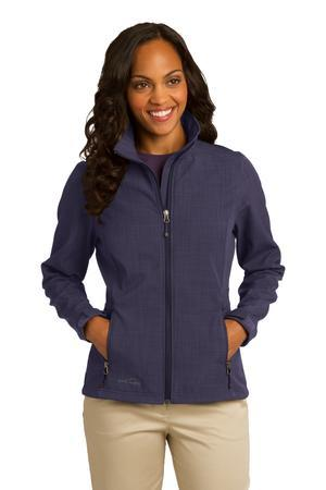 Eddie Bauer Ladies Shaded Crosshatch Soft Shell Jacket. EB533