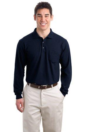 Port Authority® TLK500LSP - Tall Silk Touch Long Sleeve Polo with Pocket