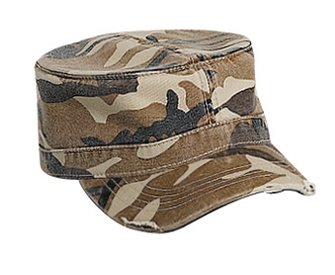 Camouflage superior garment washed cotton twill distressed visor military style caps