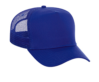 Cotton twill solid color high crown golf style mesh back caps