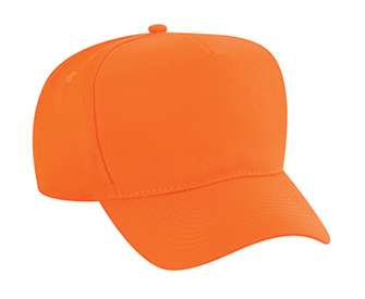 Neon polyester twill solid color six panel five panel low crown golf style caps