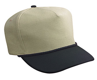 Wool blend two tone color five panel low crown golf style caps