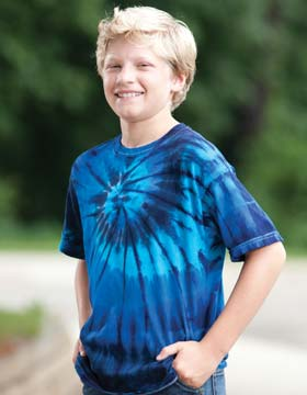 Tie-Dyed ED921 - Youth Multi Color Center Swirl T-Shirt