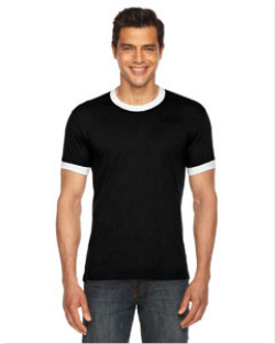 American Apparel - BB410  Unisex Poly-Cotton Short-Sleeve Ringer T-Shirt