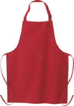 Ash City Aprons 55001 - Adjustable Bib Apron-Full Lenghth With Pockets