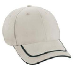 Ash City Lifestyle Performance caps 45013 - Deluxe Heavy Brushed Twill Cap With Embroidered 3D Sandwich Visor