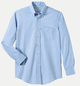 "Brooks Brothers BR621035 346 Regular Fit No-Iron Pinpoint Dress Shirt - 34/35"" Sleeve"