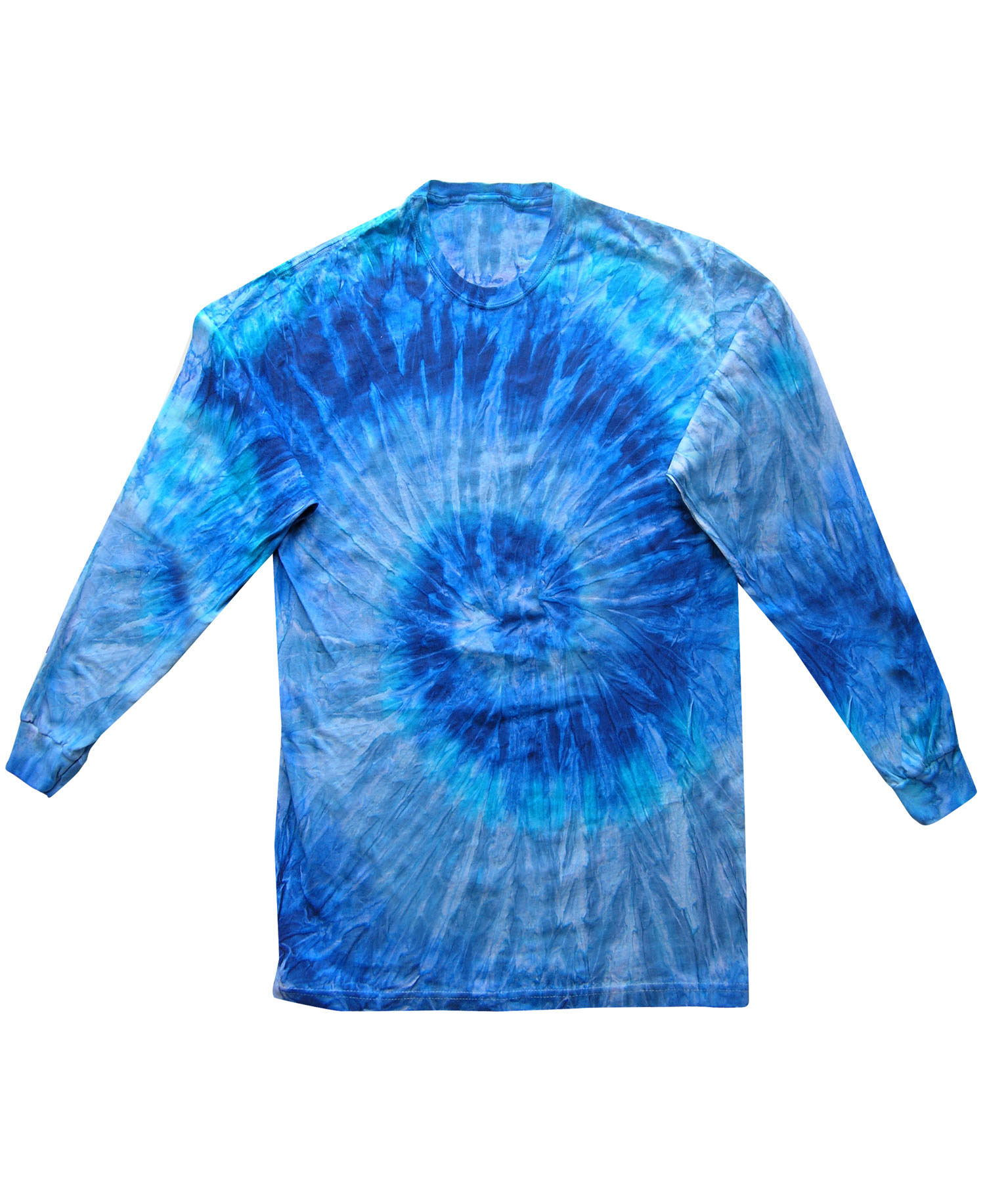Colortone - T321P Adult Blue Jerry Long Sleeve Tie Dye Tee