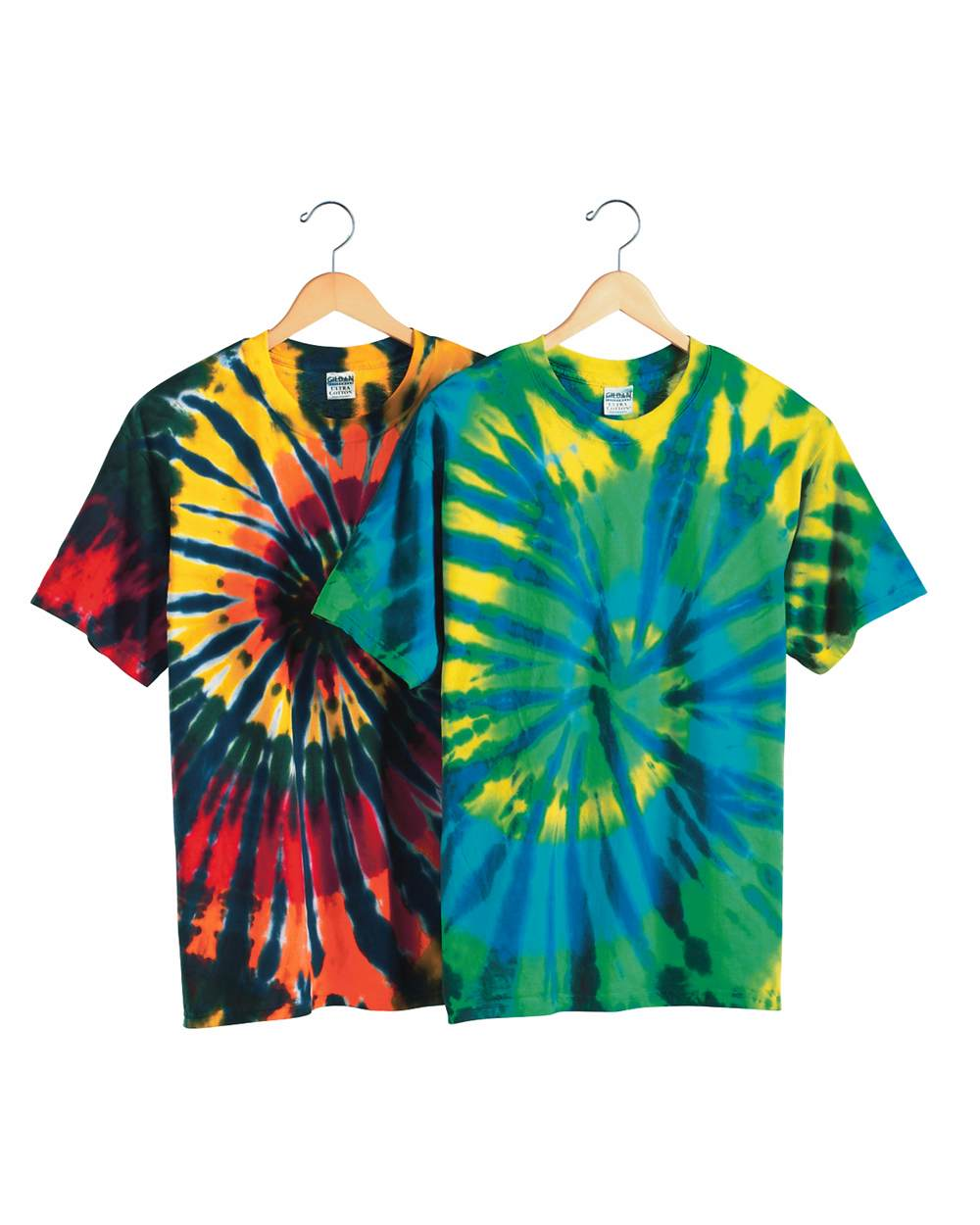 Dyenomite 200T2 Multi-Color Cut-Spiral Short Sleeve T-Shirt