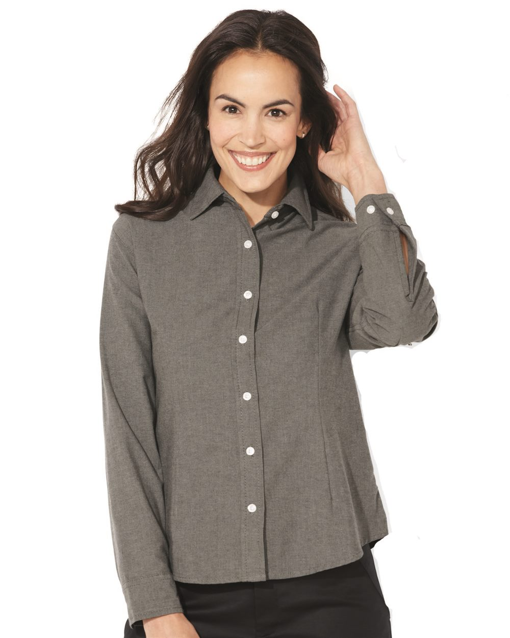 FeatherLite 5233 Ladies' Long Sleeve Oxford Shirt