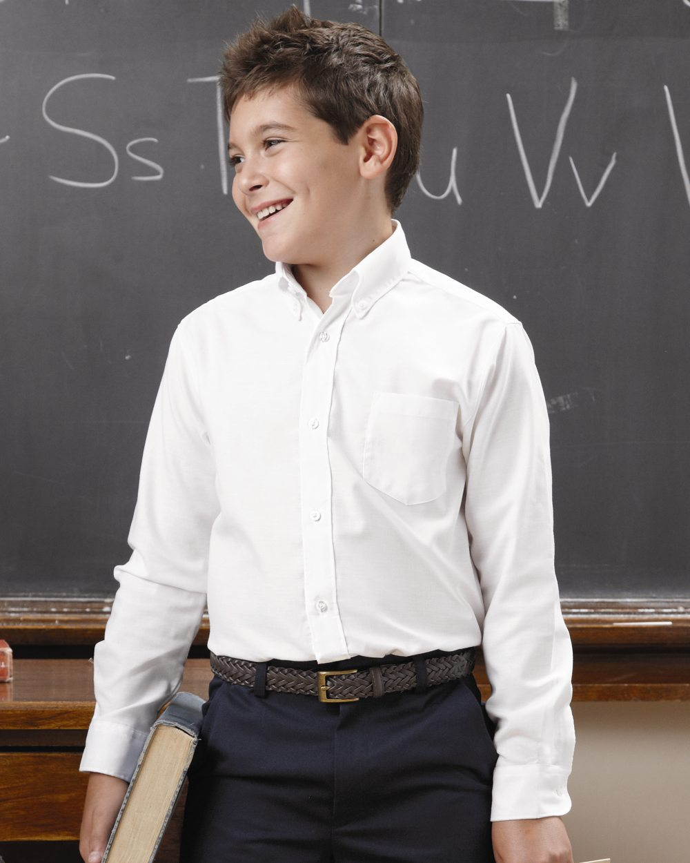 "French Toast E9002 Boy""s Long Sleeve Oxford Shirt"