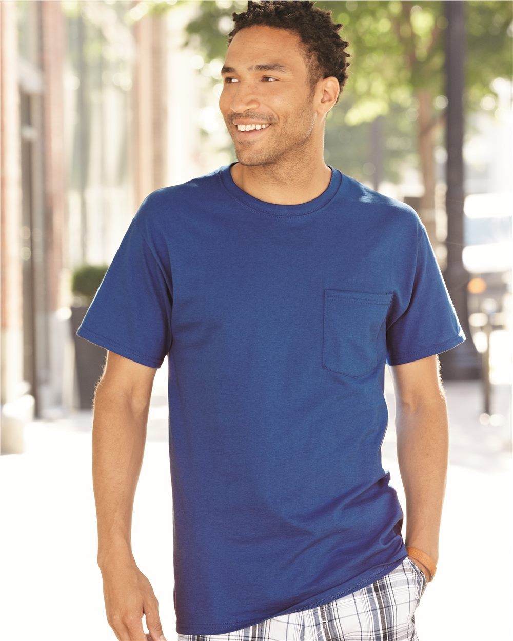 Fruit of the Loom 3930PR Heavy Cotton T-Shirt with a Left Chest Pocket