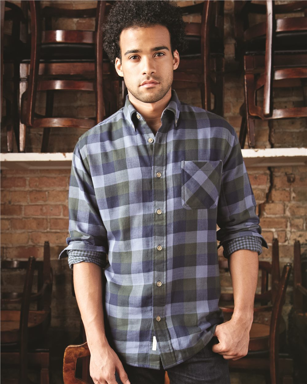 Weatherproof 164761 - Vintage Brushed Flannel Long Sleeve Shirt