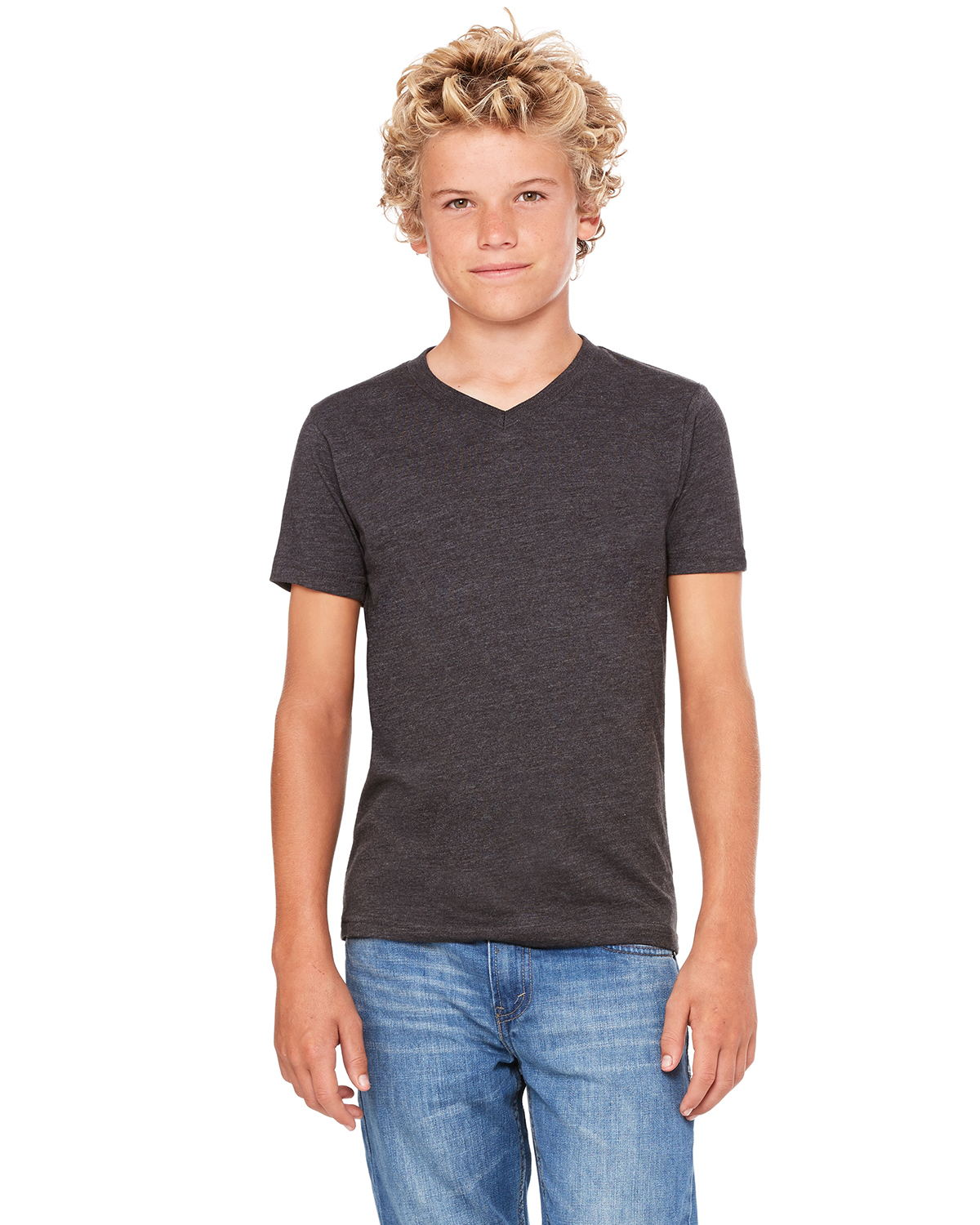 Canvas 3005Y - Youth Short Sleeve V-Neck T-Shirt