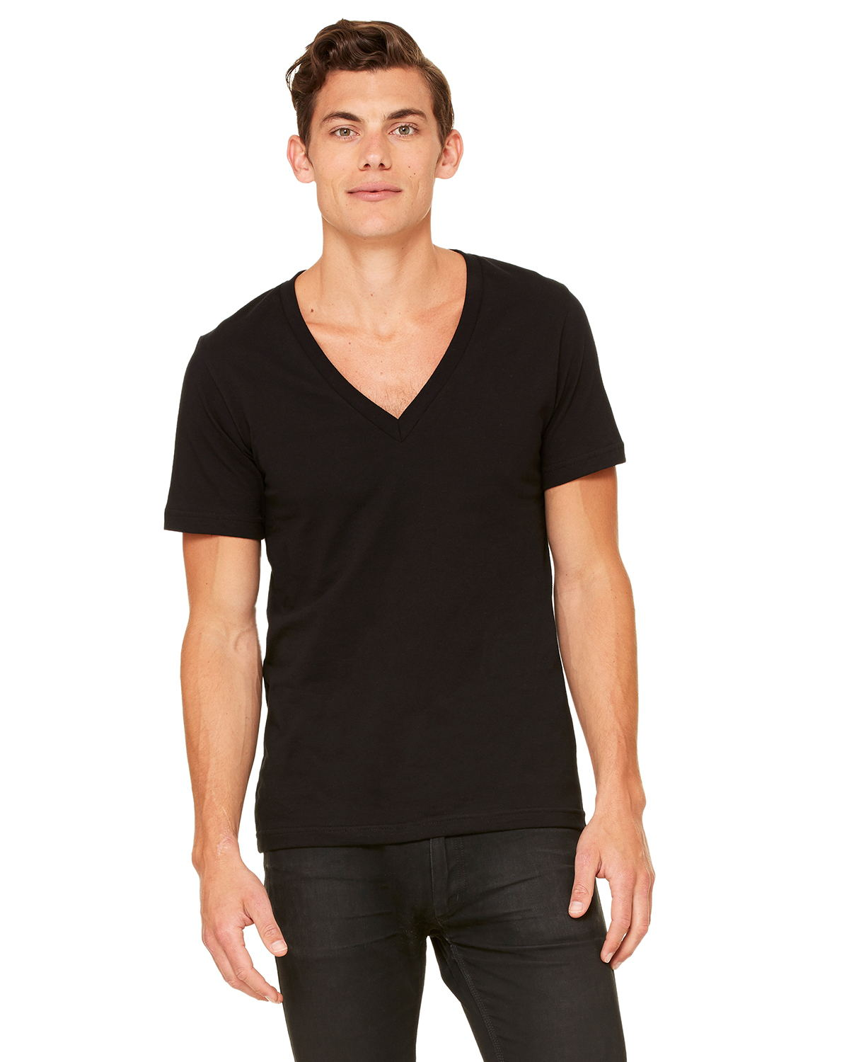 Canvas 3105 Unisex Deep V-Neck T-Shirt