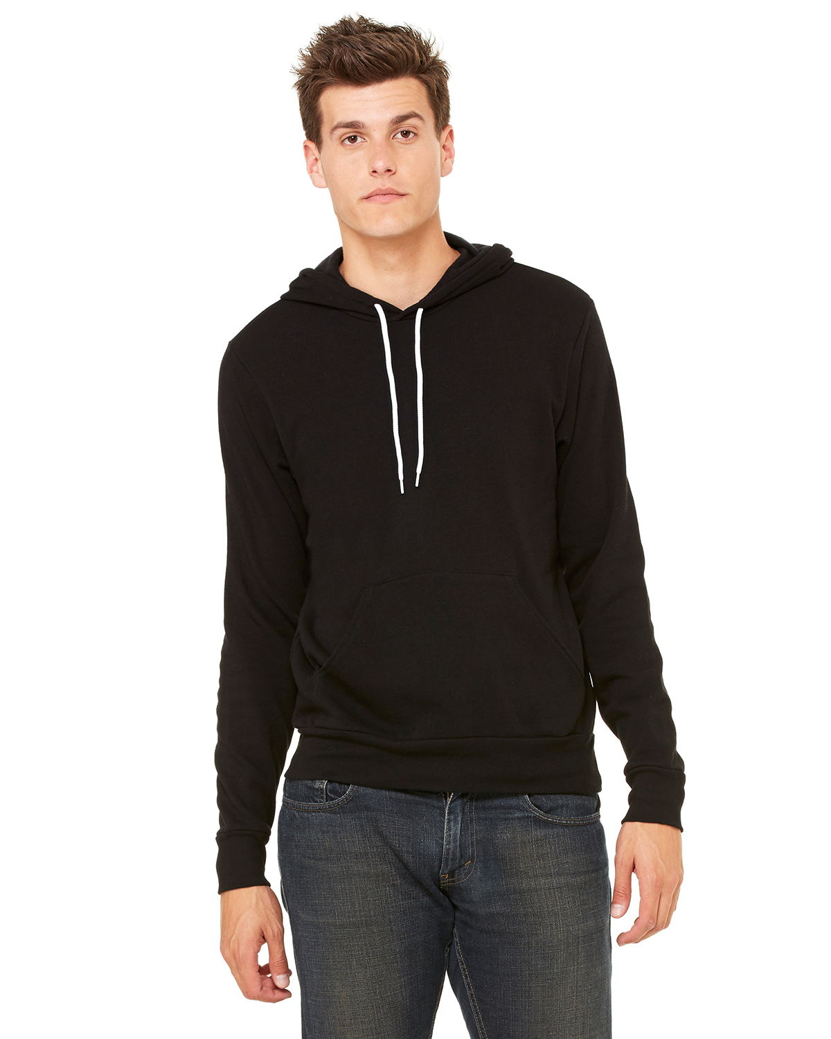 Canvas 3719 - Unisex Poly/Cotton Hooded Pullover Sweatshirt