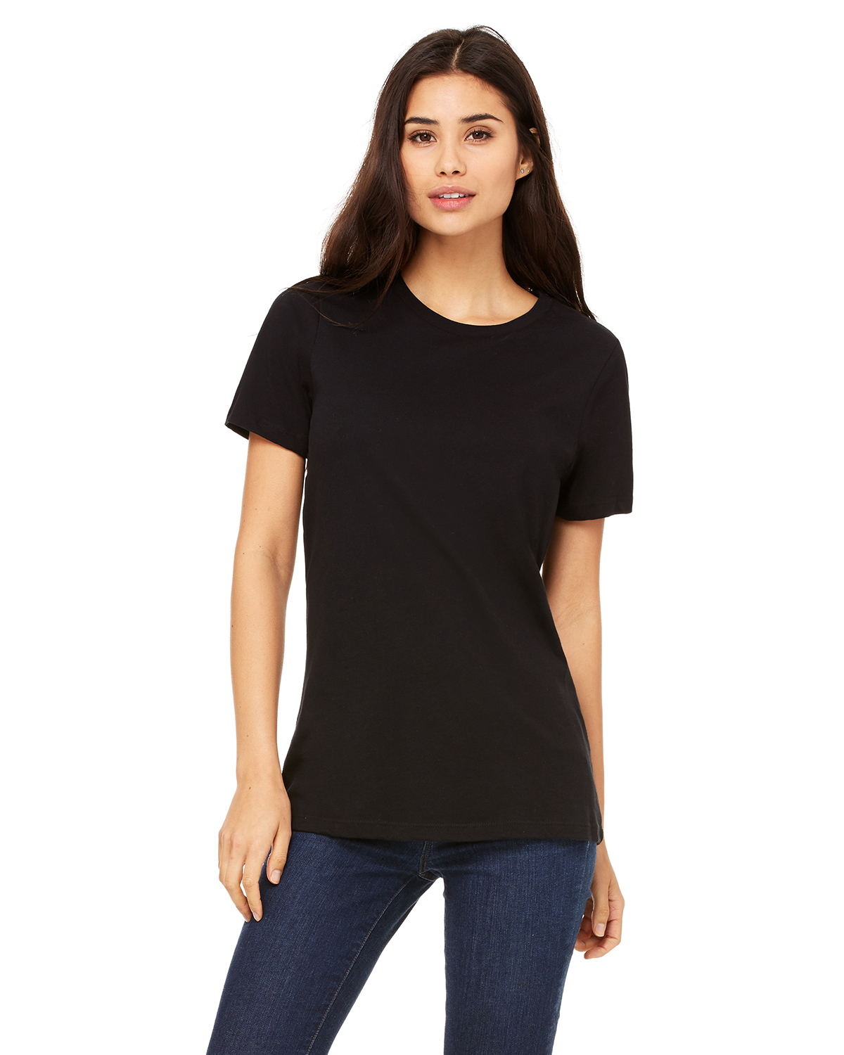 Canvas B6400 - Missy Short-Sleeve Jersey Crew Neck