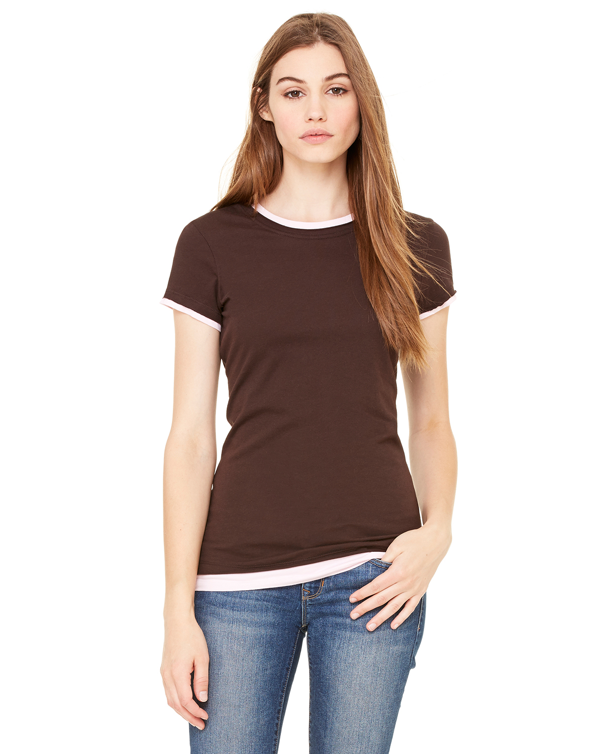 Canvas B8102 - Ladies' Sheer Jersey Short-Sleeve 2-in-1 Tee