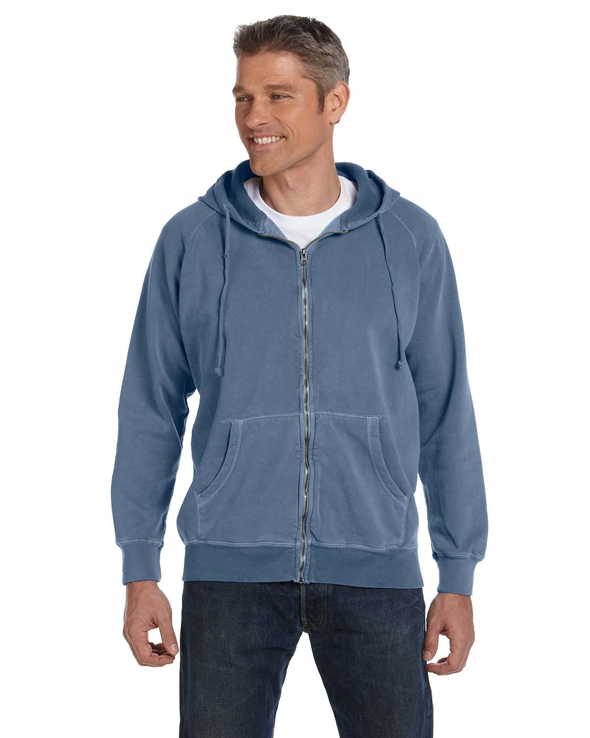 Comfort Colors C1563  Pigment-Dyed Full-Zip Hooded Sweatshirt