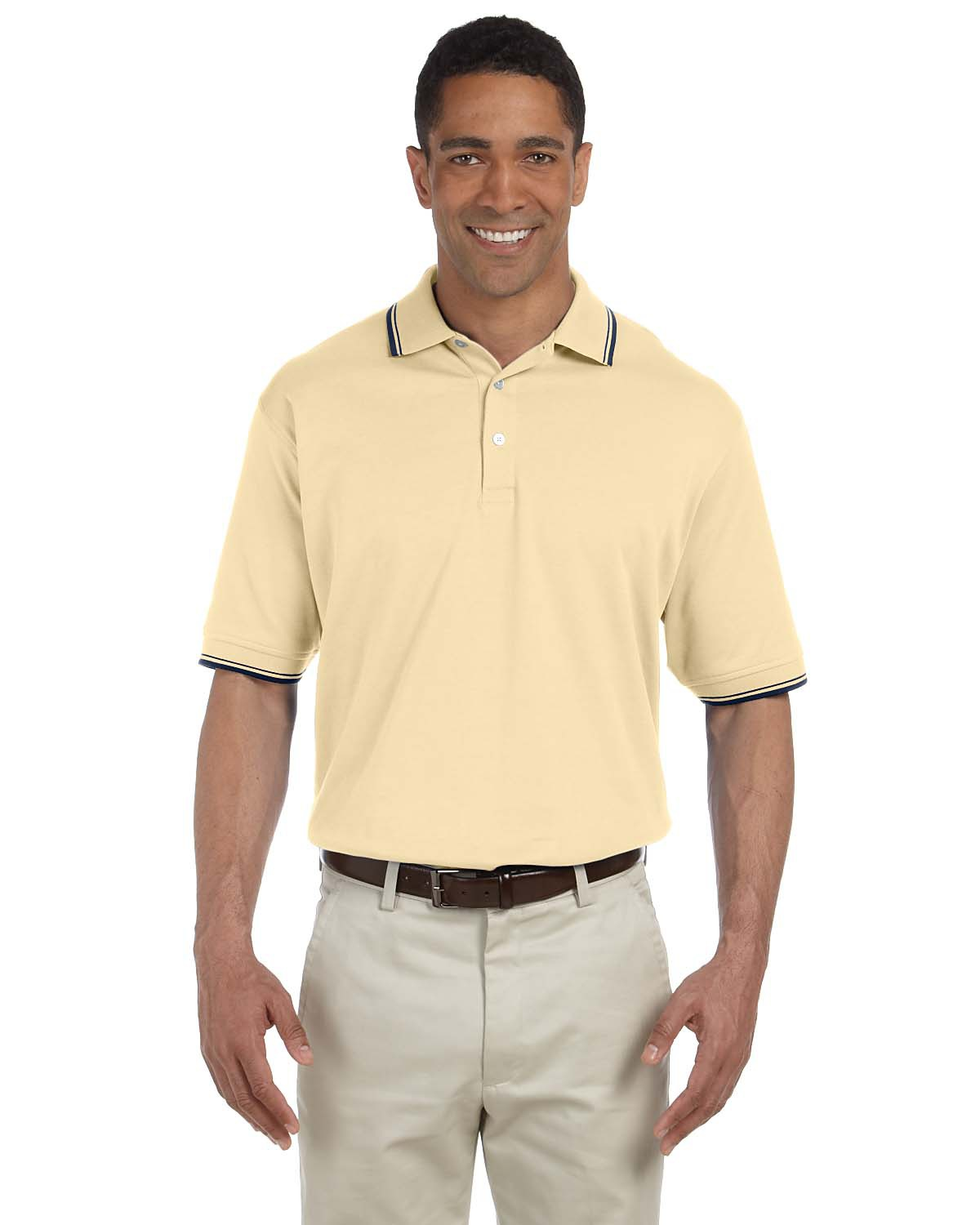 Devon & Jones D140 Men's Tipped Perfect Pima Interlock Polo