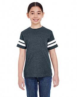 LAT Drop Ship 6137 - Youth Fine Jersey Football Tee