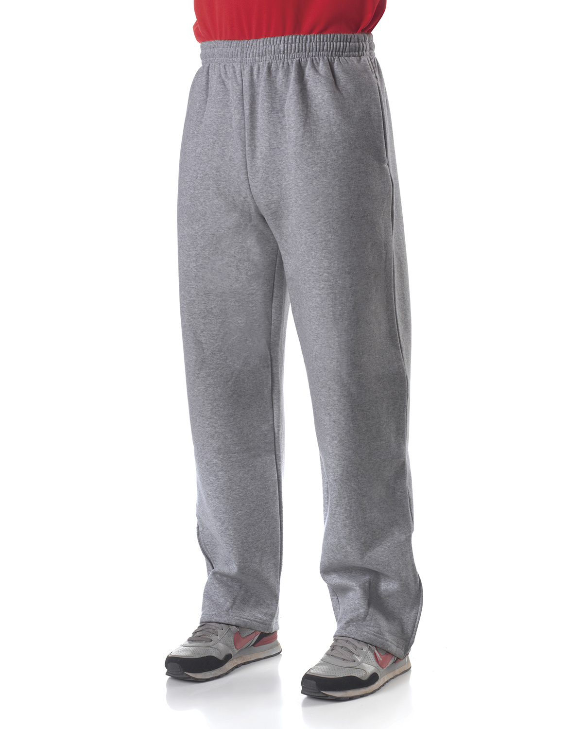 A4 Drop Ship N6189 - Men's Open Bottom Pocketed Fleece Pants