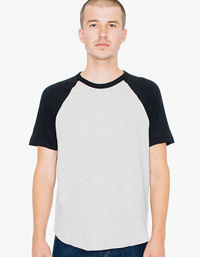 American Apparel AR232 - Unisex Poly-Cotton Raglan T-Shirt