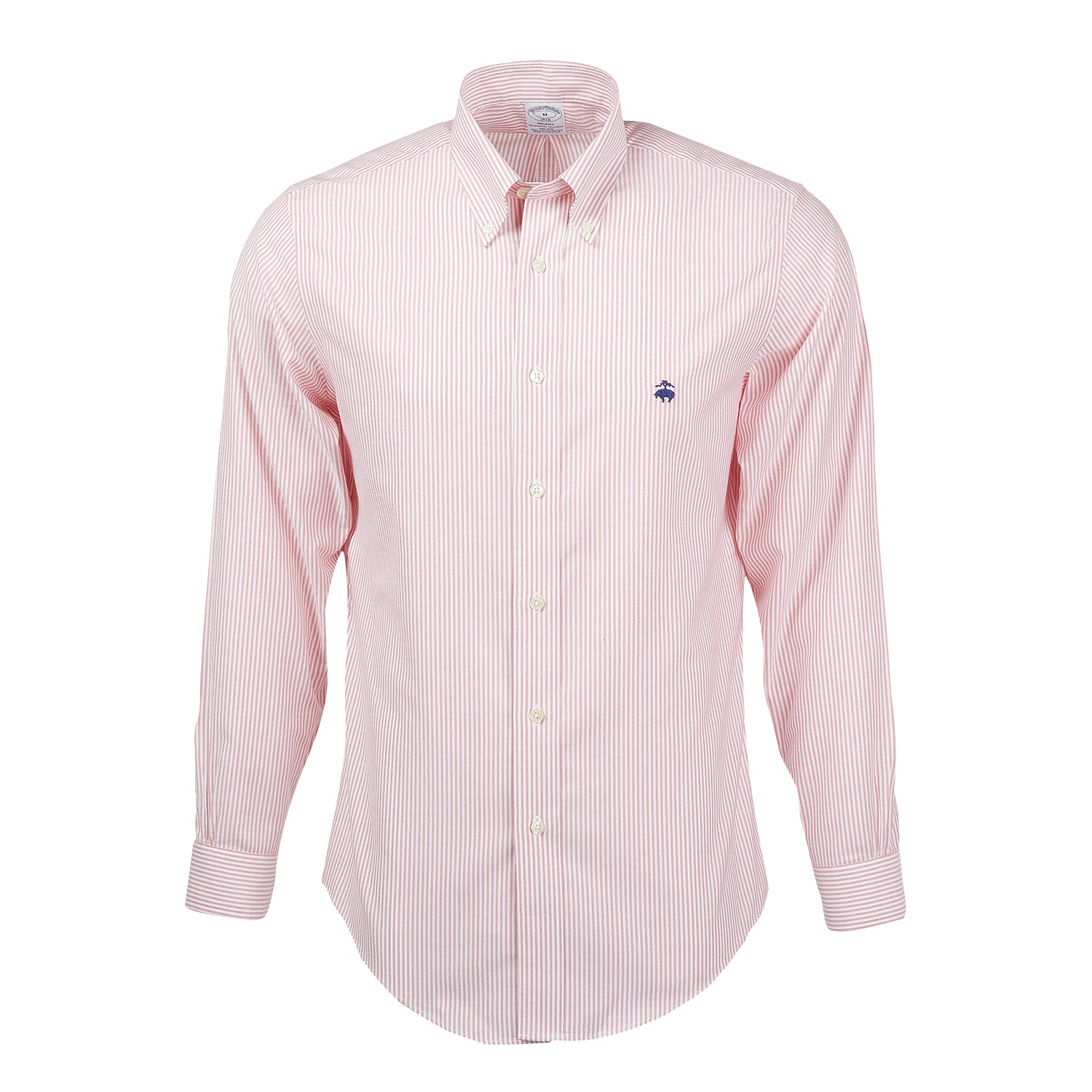 Brooks Brothers BR0732 - Men's Madison Fit Non-Iron Bengal Stripe Oxford Sport Shirt