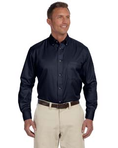 Harriton M500T - Men's Tall Easy Blend Long Sleeve Twill