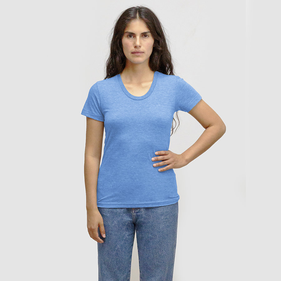 Los Angeles Apparel TR3001 - Women's Tri-Blend Short Sleeve Track Tee