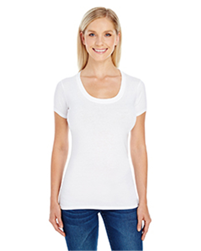 Threadfast 220S - Apparel Ladies' Spandex Short-Sleeve Scoop Neck T-Shirt