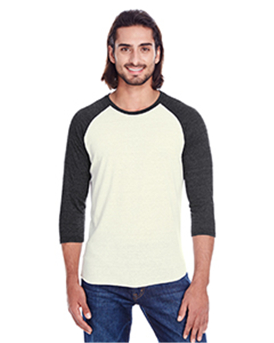 Threadfast 302G - Apparel Unisex Triblend 3/4-Sleeve Raglan