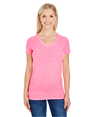 Threadfast Apparel 202B - Ladies' Triblend Short-Sleeve V-Neck T-Shirt