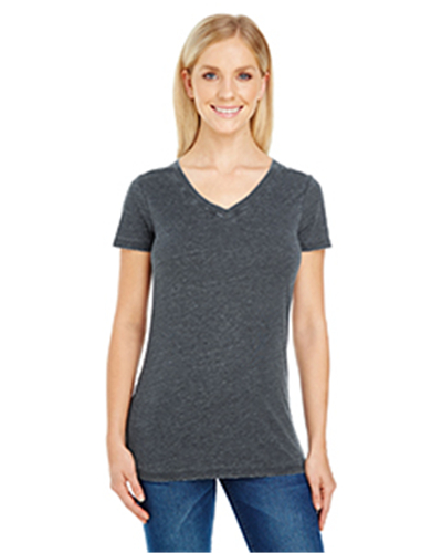 Threadfast Apparel 208B - Ladies' Vintage Dye Short-Sleeve V-Neck T-Shirt