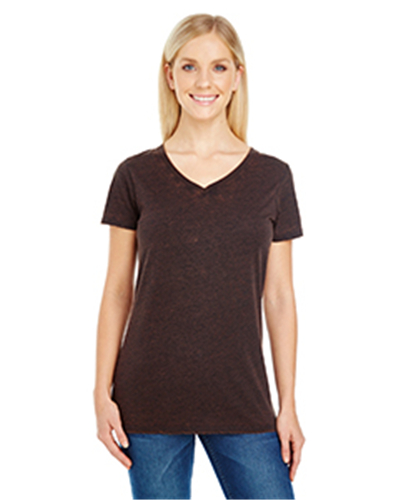 Threadfast Apparel 215B - Ladies' Cross Dye Short-Sleeve V-Neck T-Shirt