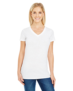 Threadfast Apparel 230B - Ladies' Pigment Dye Short-Sleeve V-Neck T-Shirt