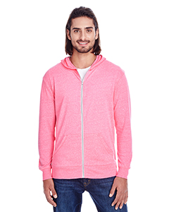 Threadfast Apparel 302Z - Unisex Triblend Full-Zip Light Hoodie