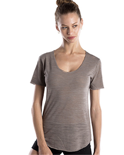 US Blanks US333 - Ladies' Scalloped Hem Short-Sleeve Scoop Neck