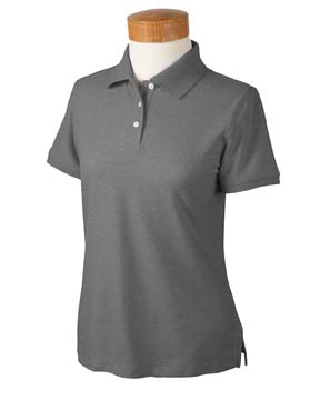 Devon & Jones D153WGR Ladies' Recycled Pima M lange Piqu  Polo