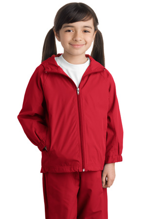 Sport-Tek® YST73 Youth Hooded Raglan Jacket