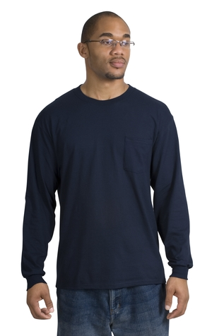 Port & Company® PC61LSP Long Sleeve Essential T-Shirt with Pocket